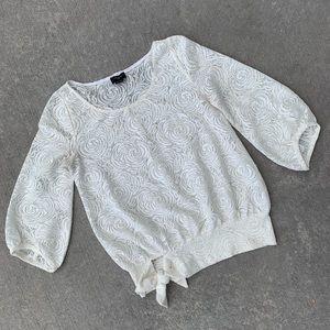 Anthropologie Deletta small lace top